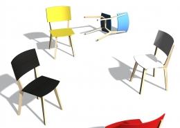 Pracujeme na vývoji židle pro sériovou výrobu.